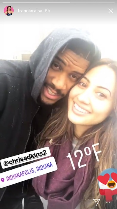 Francia Raisa, Chris Adkins