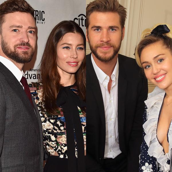 Justin Timberlake, Jessica Biel, Prince William, Kate Middleton, Liam Hemsworth, Miley Cyrus