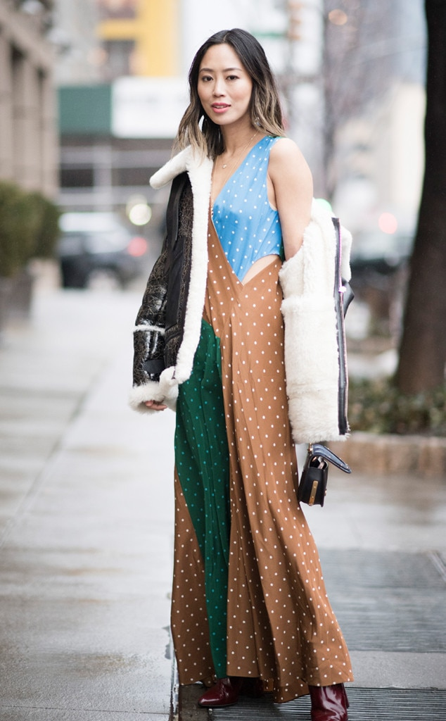 ESC: NYFW Fall 2017, Celeb Street Style, Aimee Song
