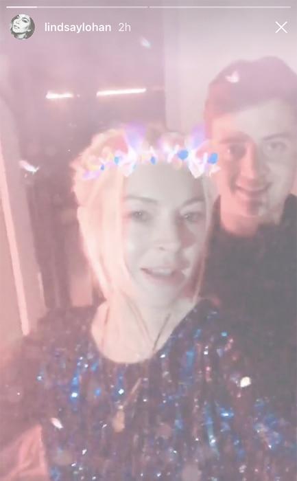 Lindsay Lohan, New Year's Eve 2017