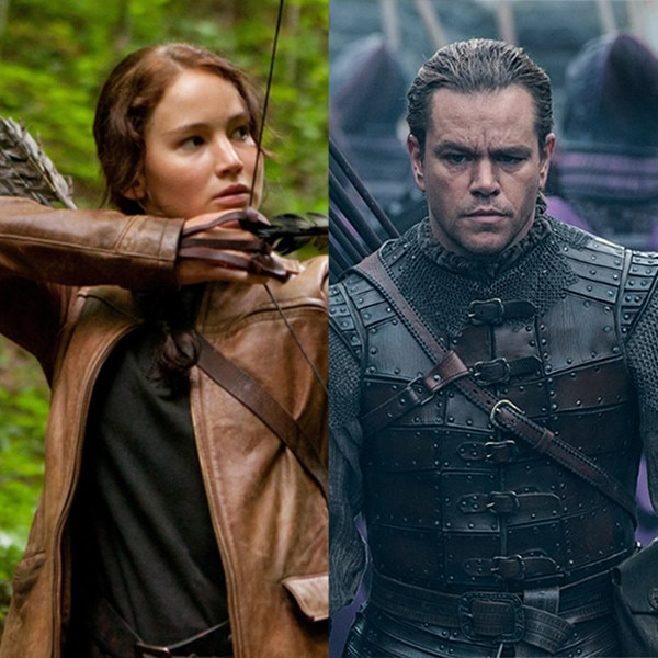The Hunger Games, Jennifer Lawrence, The Great Wall, Matt Damon