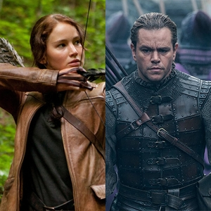 The Hunger Games, Jennifer Lawrence, The Great Wall, Matt Damon