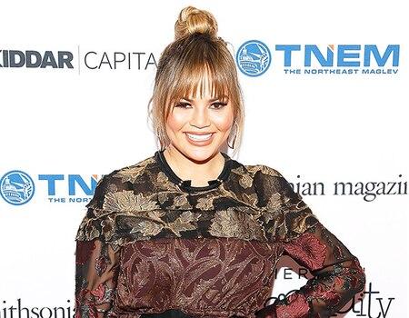Chrissy Teigen Poses in Nothing but Maternity Shapewear