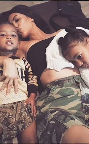 Kim Kardashian, North West, Saint West, Kanye West