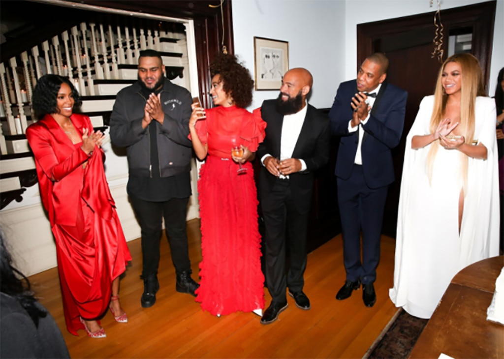 Beyonce, Jay Z, Kelly Rowland, Solange Knowles, 2017 Grammys After-Party