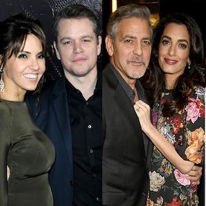 Celebs and Civilians, Matt Damon, George Clooney, Amal Clooney