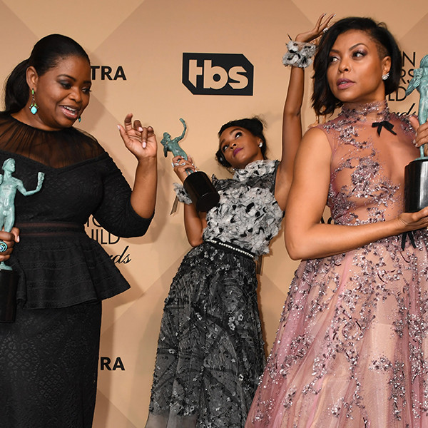 Octavia Spencer, Janelle Monae, Taraji P. Henson, Award Show Besties