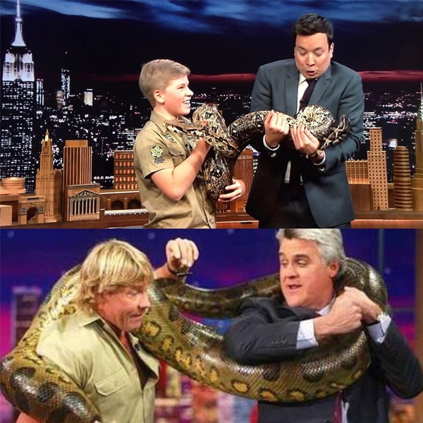 Robert Irwin, Steve Irwin, The Tonight Show
