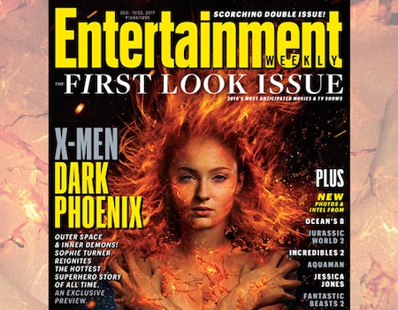 sophie turner is on fire in xmen dark phoenix first look