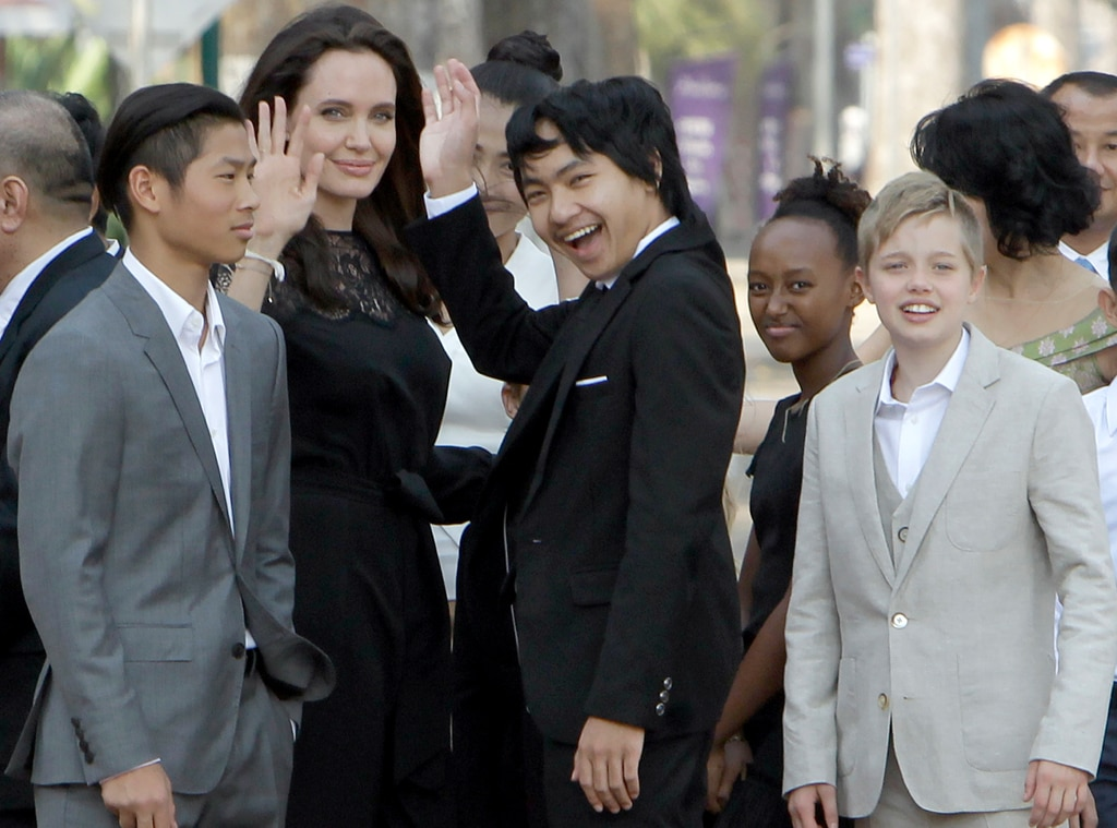 Angelina Jolie Brings Her And Brad Pitt's Kids To Her First Public Appearance Since Divorce Filing