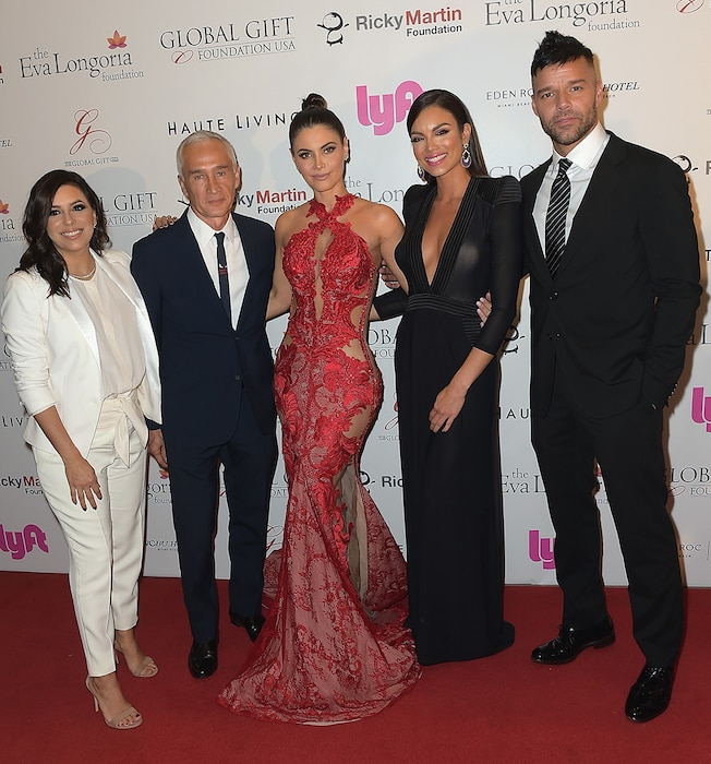 Eva Longoria, Jorge Ramos, Chiquinquira Delgado, Zuleyka Rivera and Ricky Martin