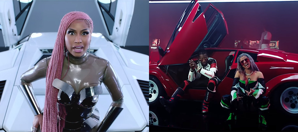 Nicki Minaj Cardi B And Migos Team Up For Futuristic Motorsport Video E News
