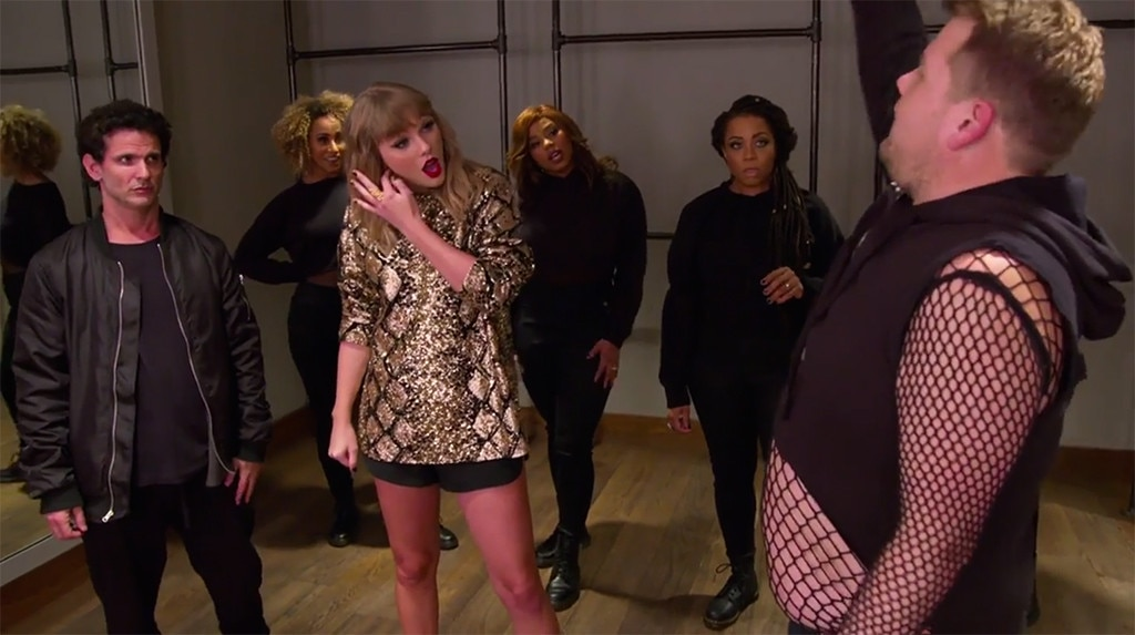 In Which Taylor Swift Lets James Corden Become Her Backup Dancer