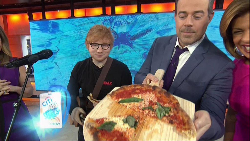 Ed Sheeran, Today, Pizza