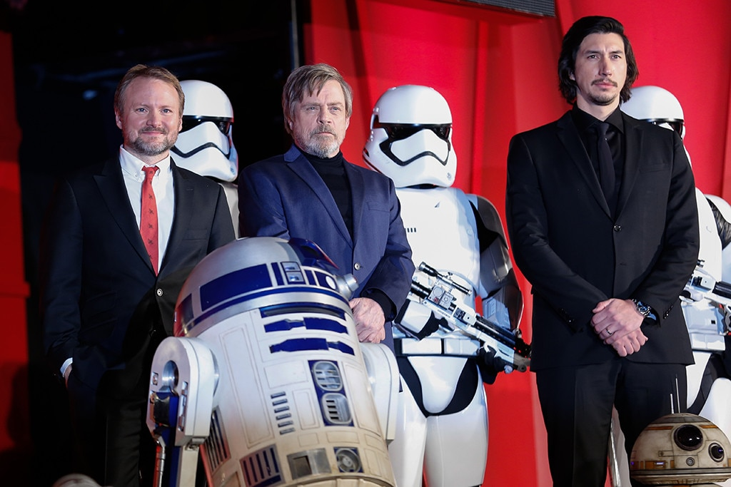 Mark Hamill, Rian Johnson, Adam Driver, Star Wars: The Last Jedi, Tokyo, Japan, Premiere
