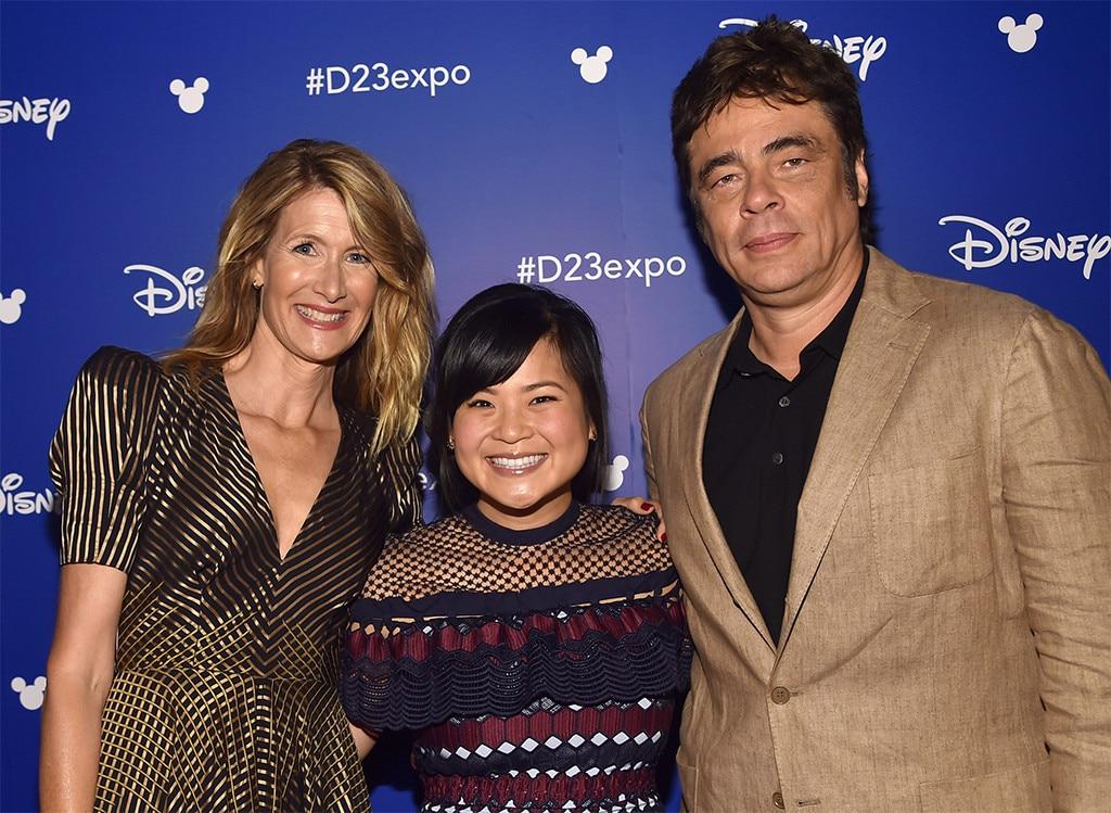 Laura Dern, Kelly Marie Tran and Benicio Del Toro, D23 Expo 2017