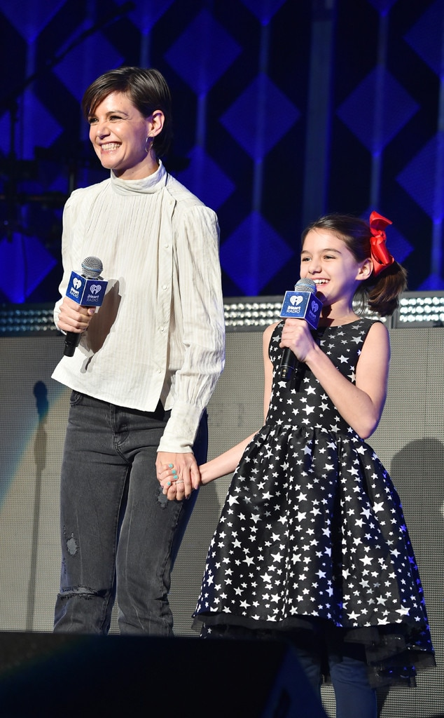 Katie Holmes and Suri Cruise from 2017 Jingle Ball: Star ...