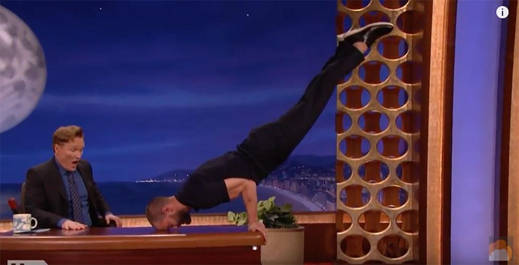 Jamie Dornan, Conan, Muscles