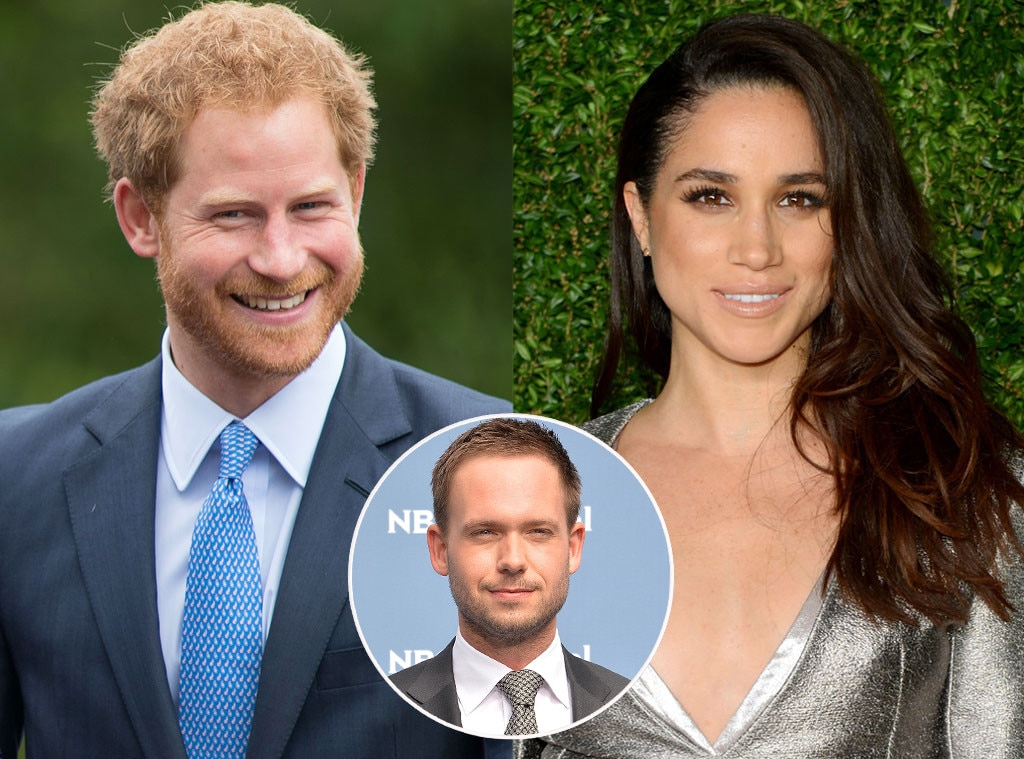Prince Harry, Meghan Markle, Patrick J. Adams.