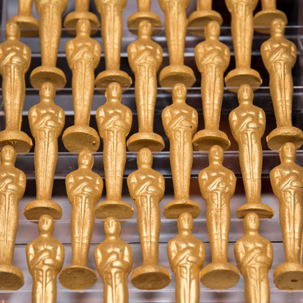 Oscars chocolate statues