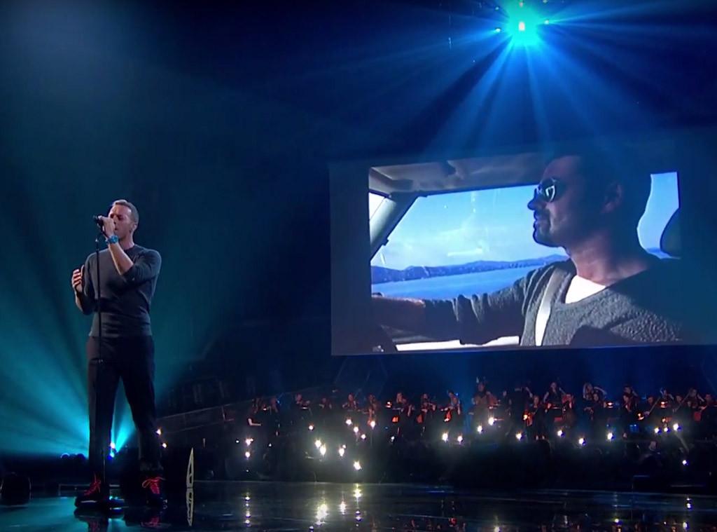 Chris Martin, George Michael, 2017 Brit Awards