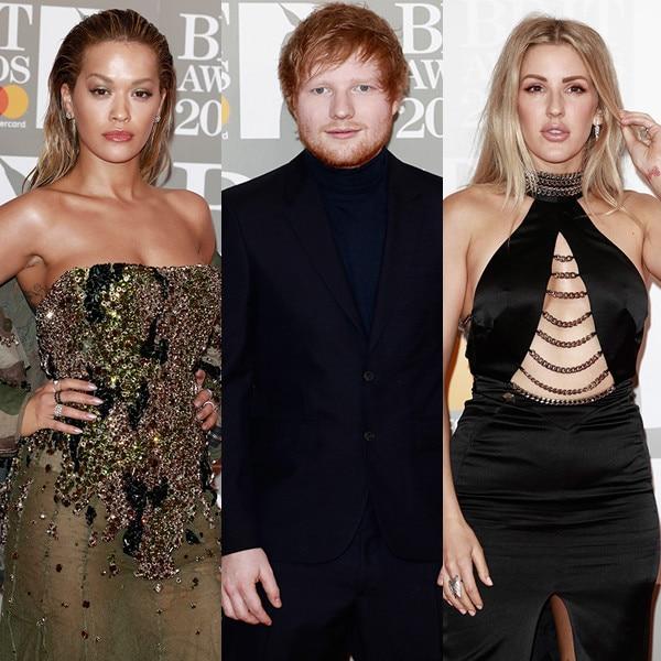 Rita Ora, Ed Sheeran, Ellie Goulding