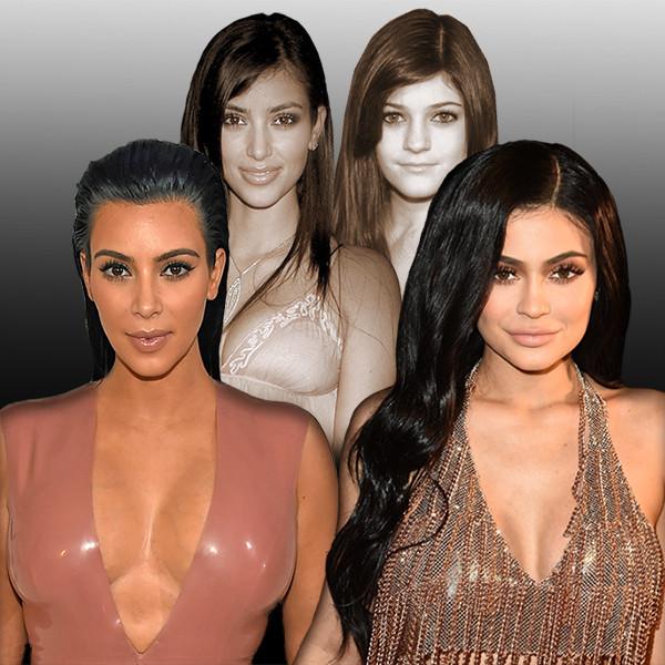 Kim Kardashian, Kylie Jenner, Transformation