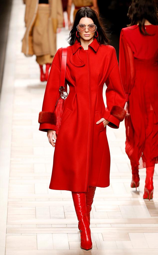 Kendall Jenner, Silvia Venturini Fendi & Karl Lagerfeld, Milan Fashion Week