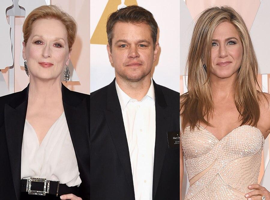 Meryl Streep, Matt Damon, Jennifer Aniston