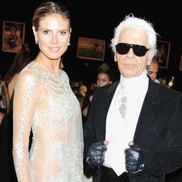 Heidi Klum, Karl Lagerfeld