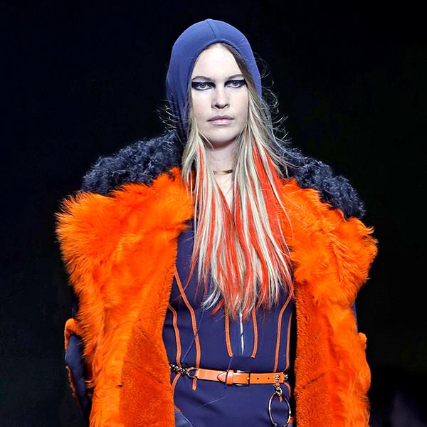 Behati Prinsloo, Versace, Milan Fashion Week