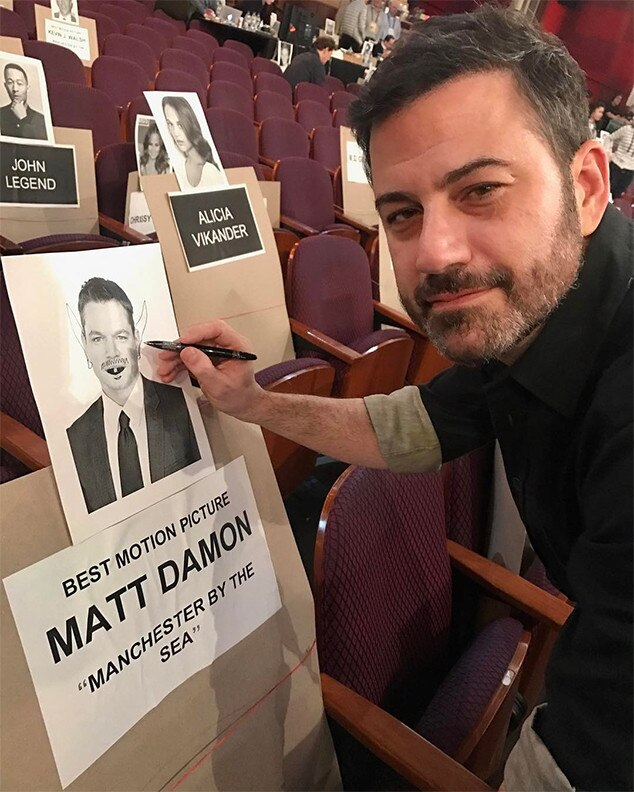 Jimmy Kimmel, Pre-Oscars, Matt Damon