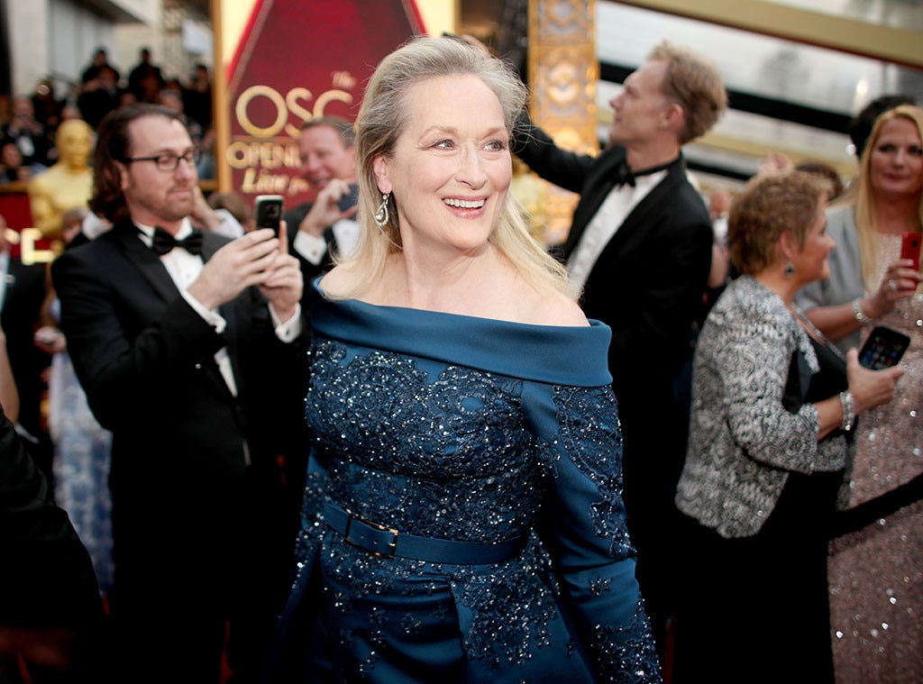 Meryl Streep Makes a Statement in Blue at the 2017 Oscars ...