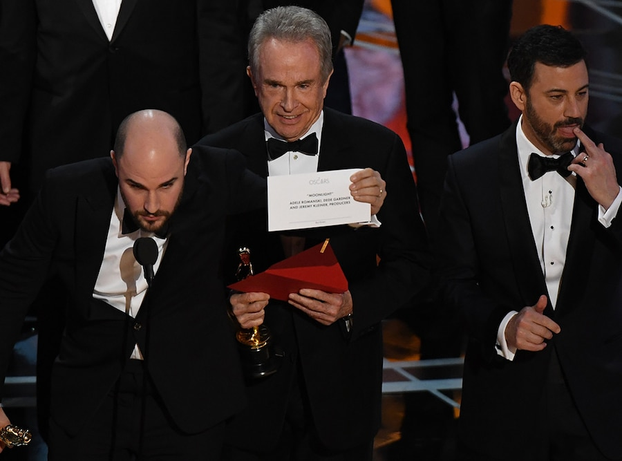 Warren Beatty, Moonlight, 2017 Oscars