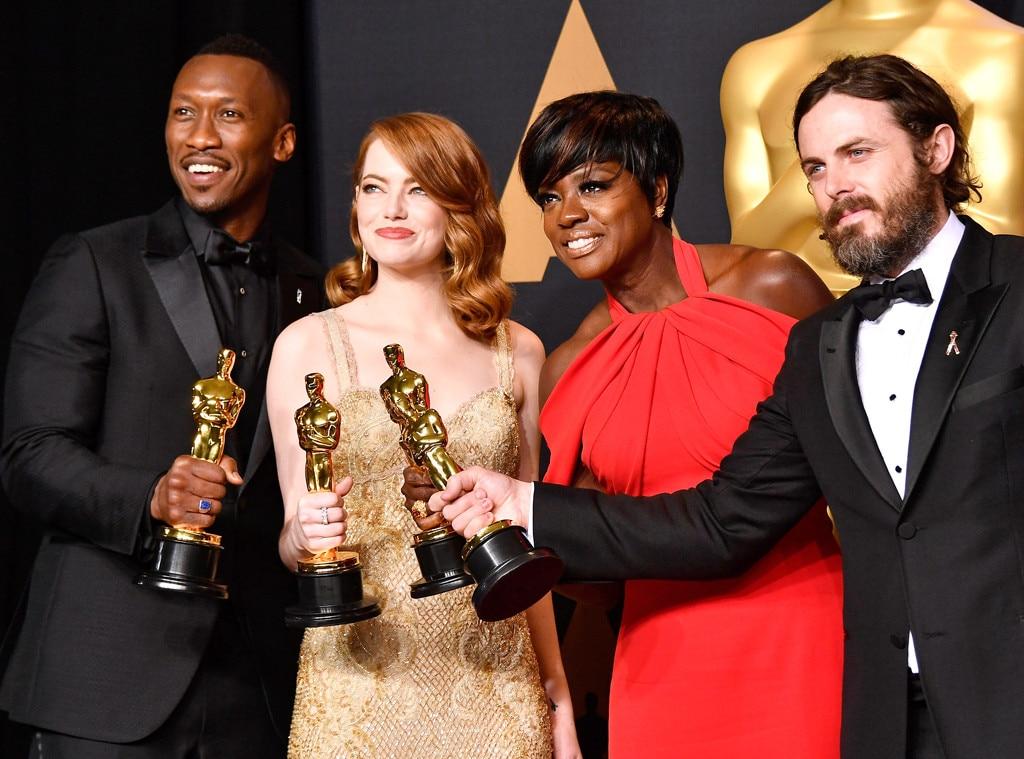 Mahershala Ali, Emma Stone, Viola Davis, Casey Affleck,  2017 Oscars, Academy Awards