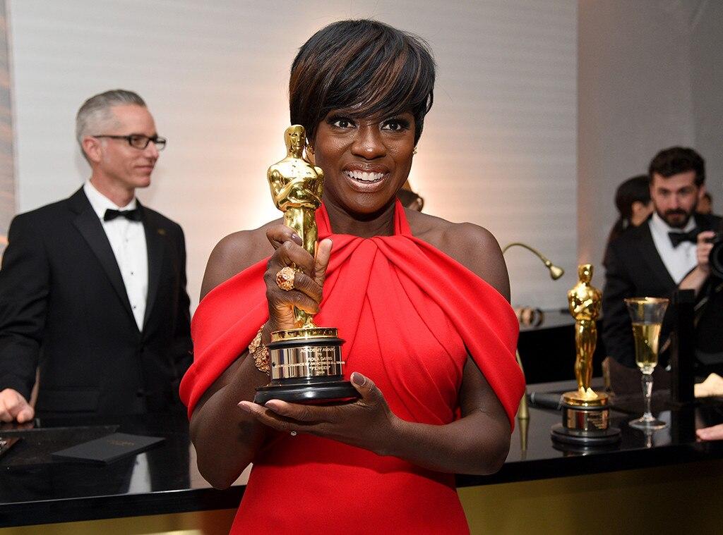 Viola Davis, 2017 Oscars, Engraving Room