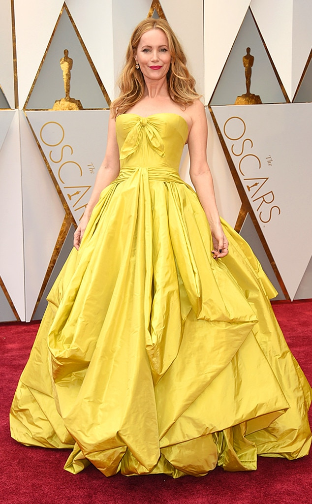 Leslie Mann: This Zac Posen dress may have not been the best choice for the Oscars but it would be a perfect Beauty And The Beast dress up gown.