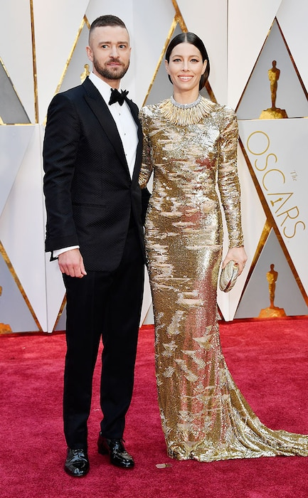 Jessica Biel, Justin Timberlake, 2017 Oscars, Academy Awards, Couples