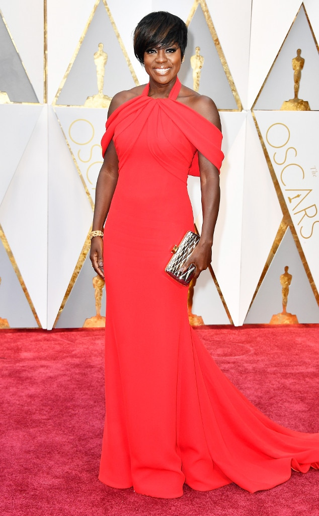 Oscars 2017 Red Carpet Arrivals Viola Davis, 2017 Oscars, Academy Awards, Arrivals