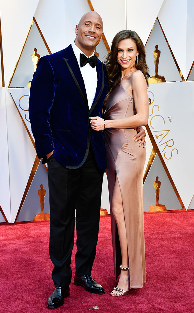 Dwayne Johnson, Lauren Hashian, 2017 Oscars, Academy Awards, Couples