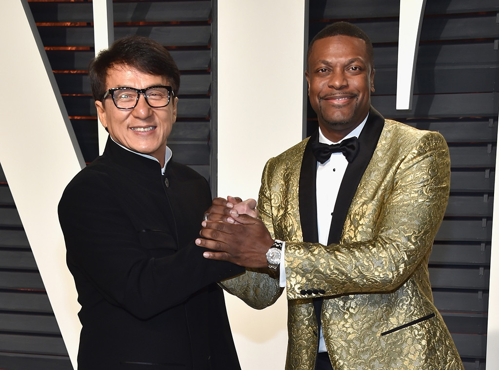Jackie Chan, Chris Tucker, 2017 Oscars Party Pics, Vanity Fair