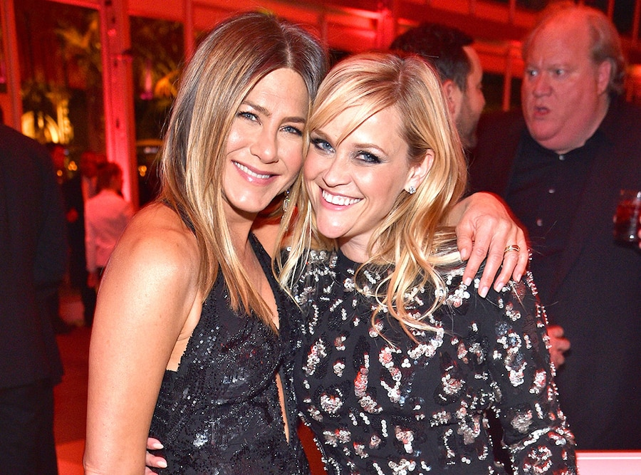 Jennifer Aniston, Reese Witherspoon, 2017 Vanity Fair Oscar Party