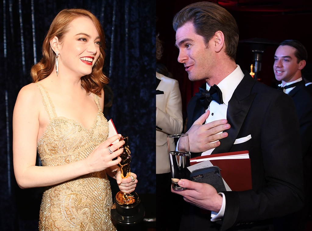 Emma Stone and Andrew Garfield in oscar