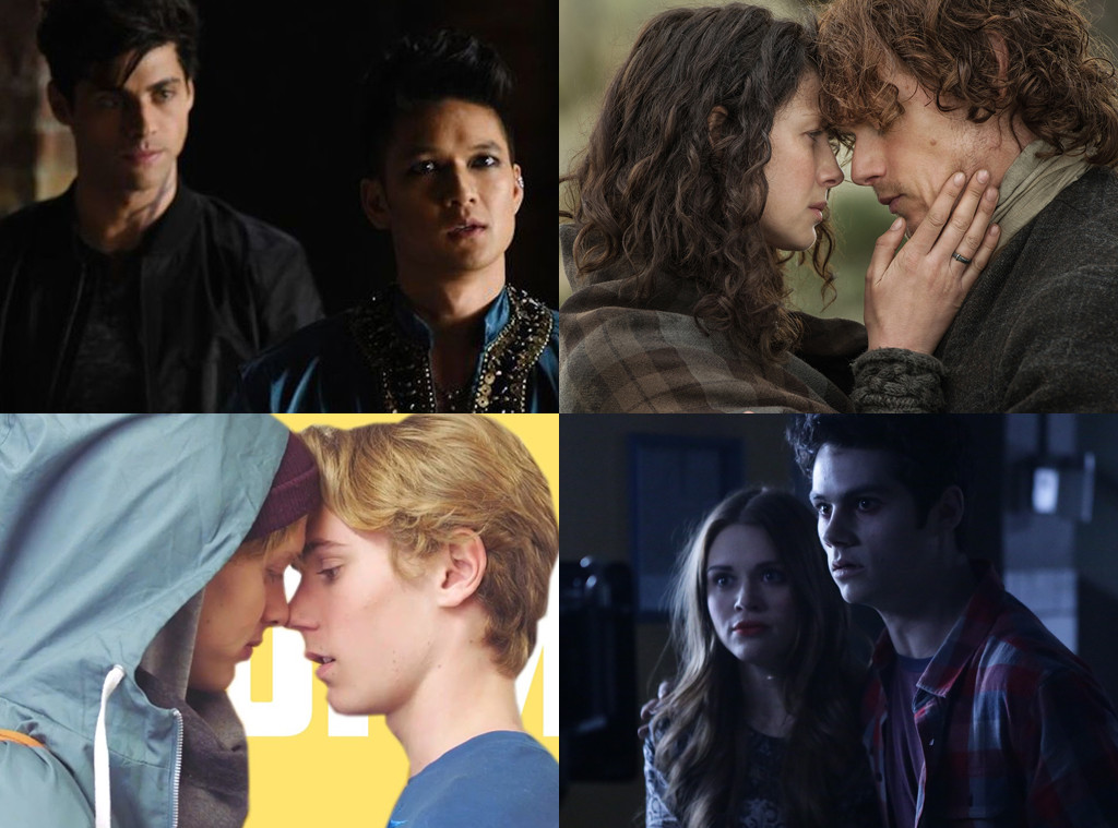Teen Wolf, Outlander, Shadowhunters, Skam, Top Couples