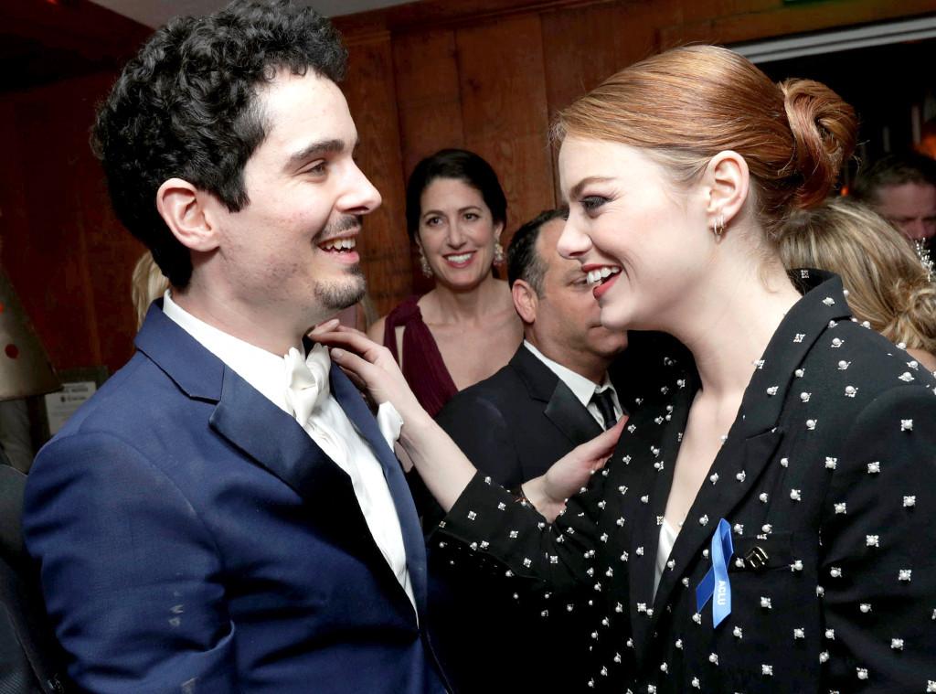 Damien Chazelle, Emma Stone, 2017 Oscars Party Pics, Lionsgate