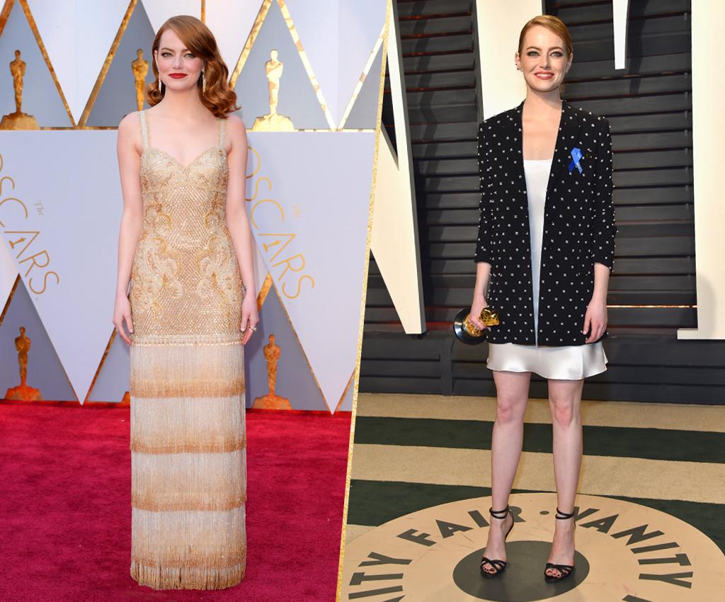 ESC, Emma Stone, 2017 Oscars, After-Party Looks