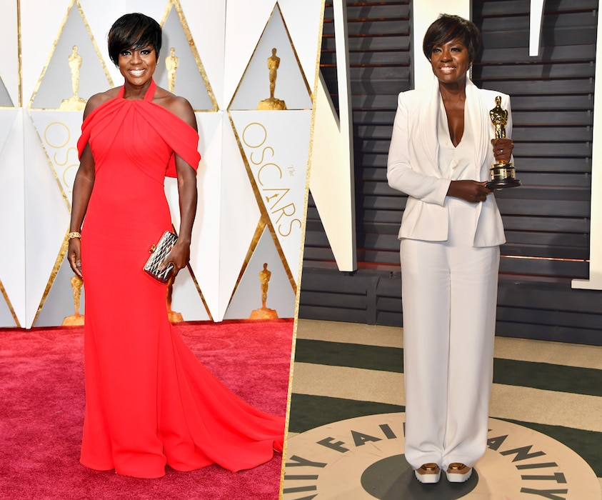 ESC, Viola Davis, 2017 Oscars, After-Party Looks