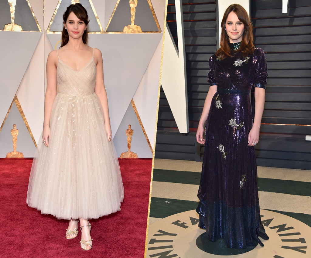 ESC, Felicity Jones, 2017 Oscars, After-Party Looks
