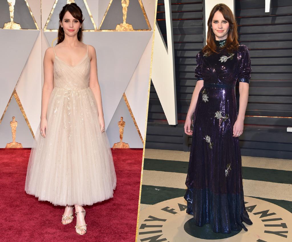 ESC, Felicity Jones, 2017 Oscars, After-Party Looks