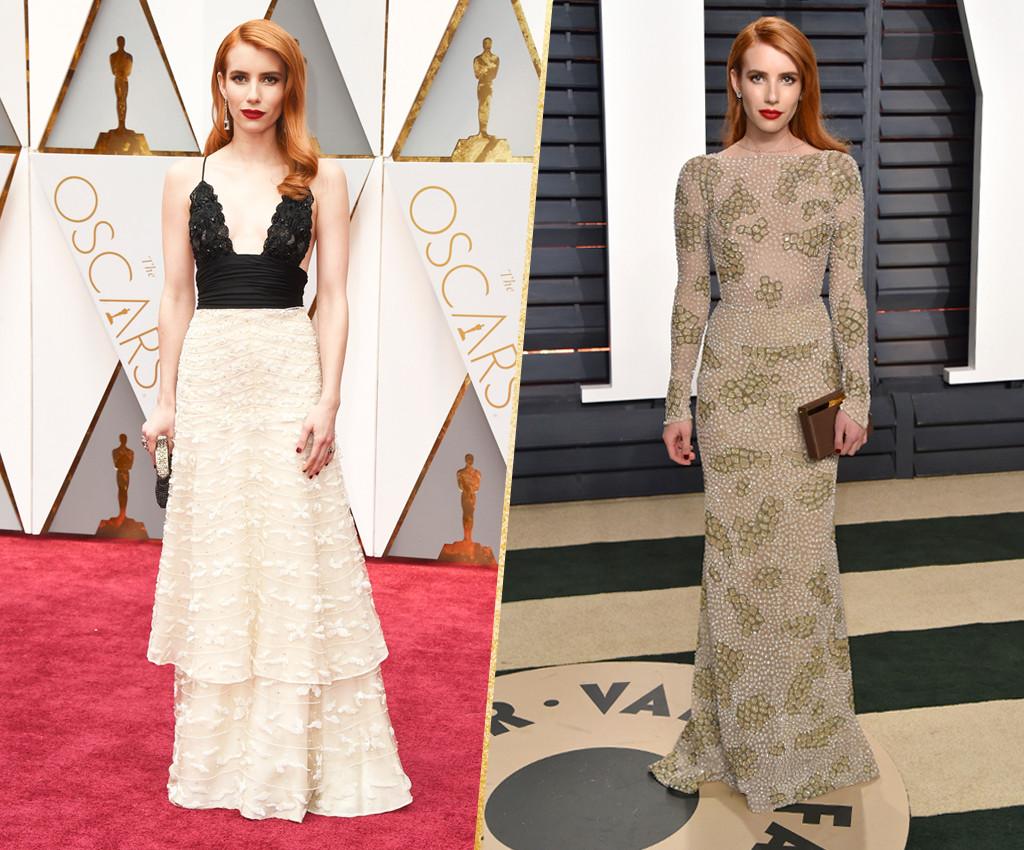 ESC, Emma Roberts, 2017 Oscars, After-Party Looks